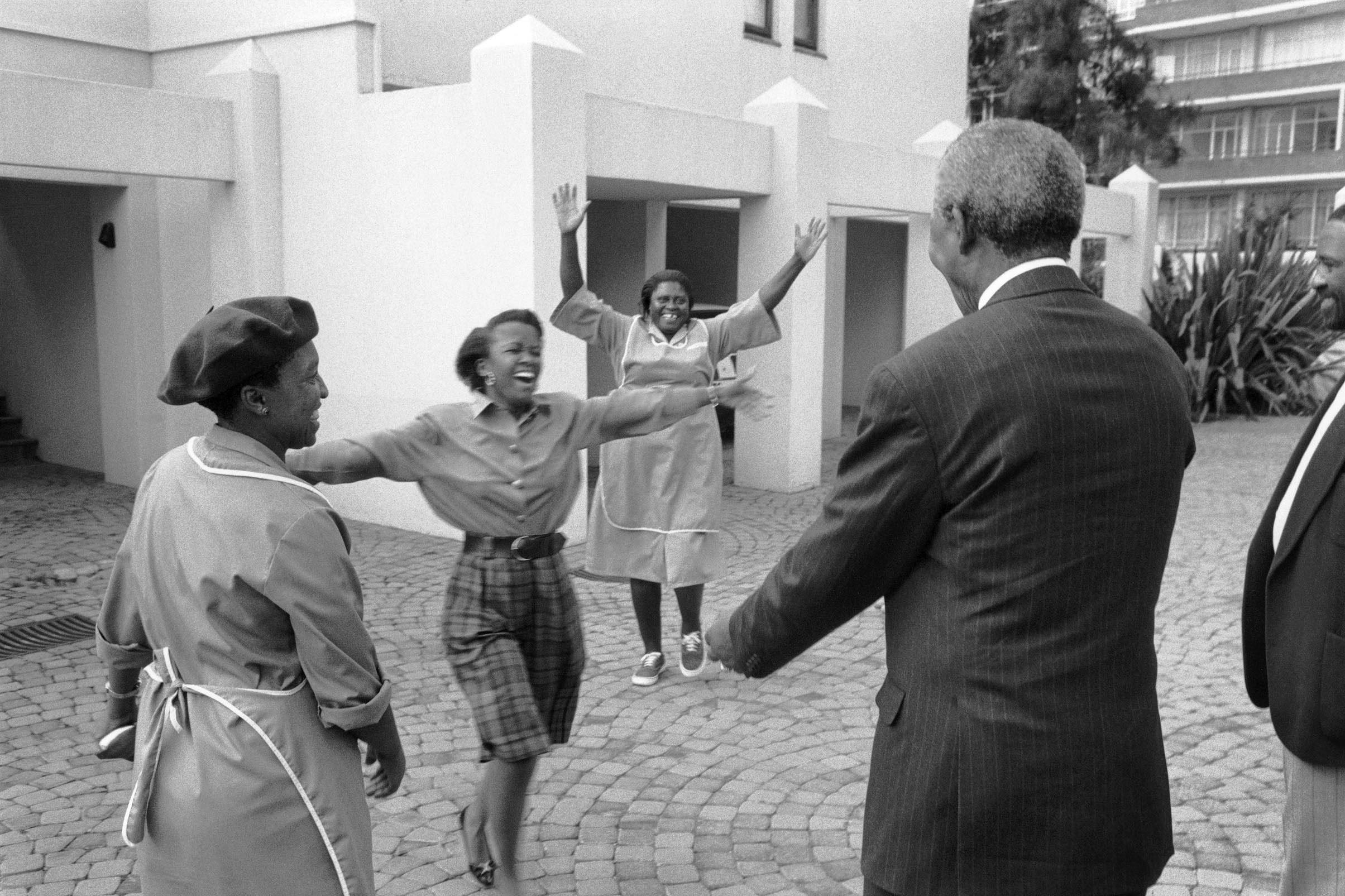 1994: First Encounter, a portrait of Nelson Mandela taken in Johannesburg. (Photograph by George Hallett)