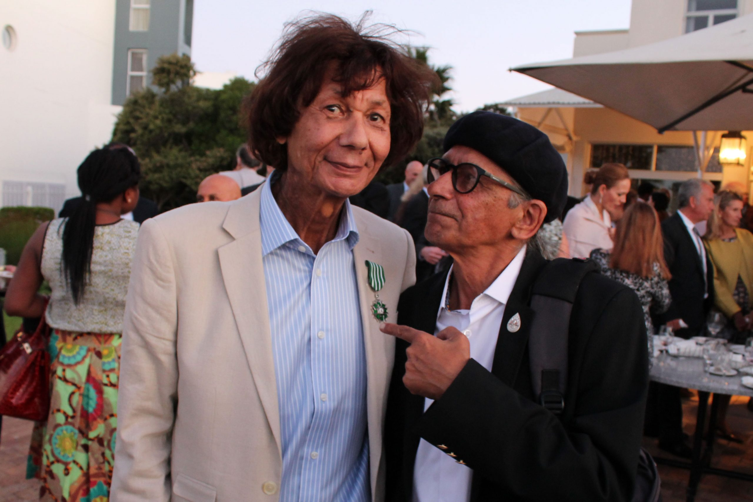 February 2016: From left, George Hallett and his friend Rashid Lombard in Cape Town when Hallett was made a Chevalier of the Order of Arts and Letters by the French Ministry of Culture. (Photograph by Yazeed Kamaldien)