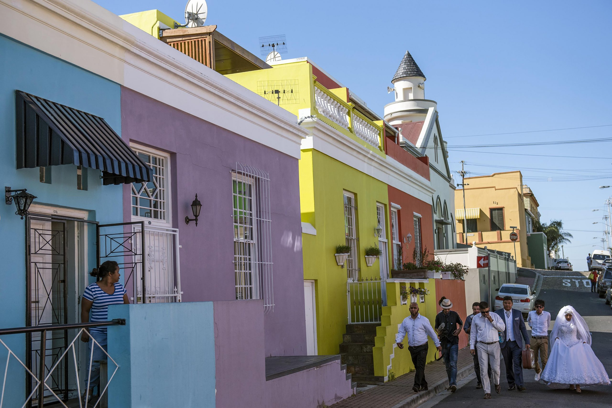 Undated: A Cape Muslim bridal party walks along the streets of the Bo-Kaap. (Photograph by Ishay Govender)