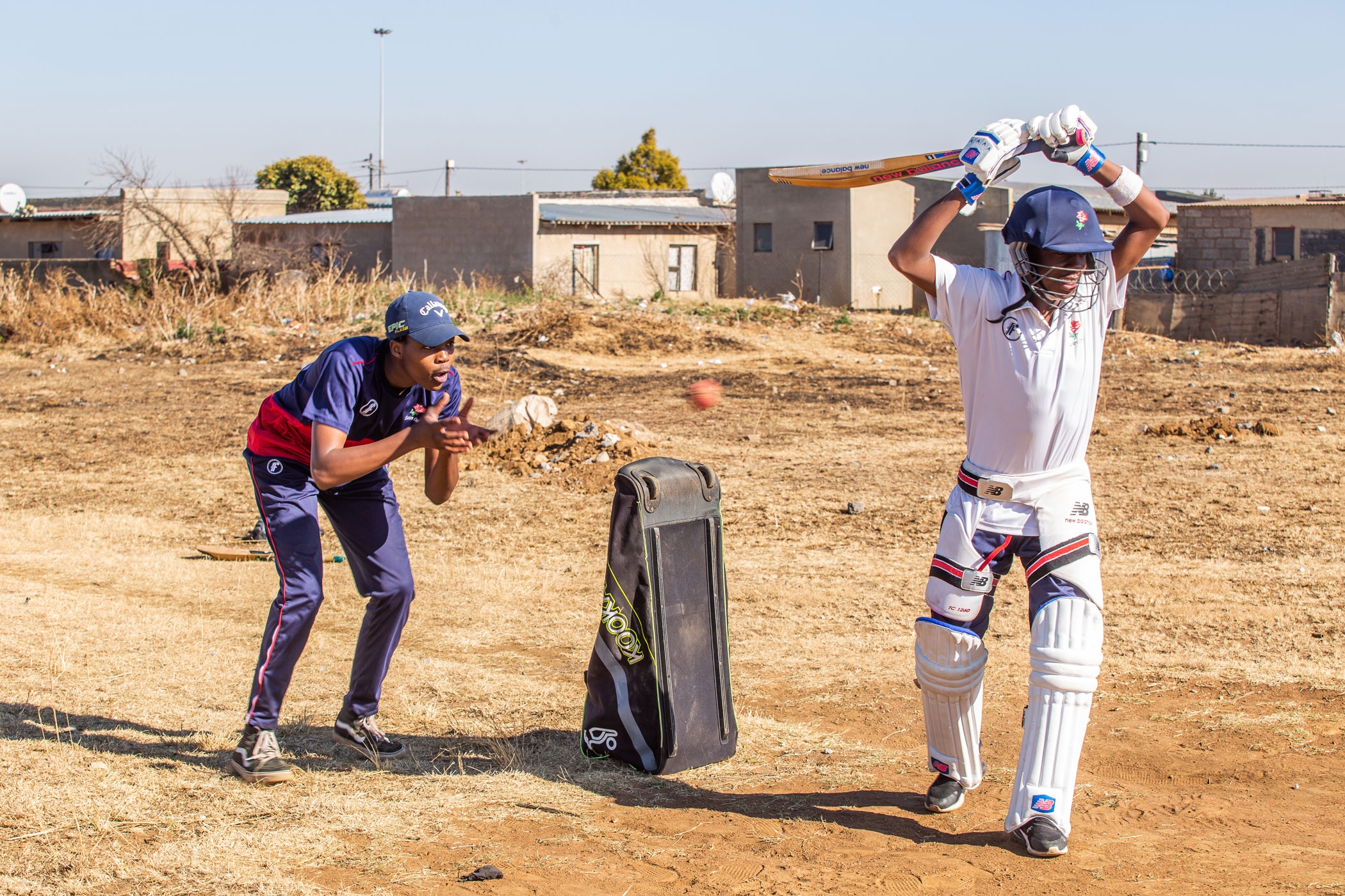 19 July 2020: Duduza Cricket Club players at a practice session. The club was among 20 others in the country to be awarded Blue Flag status at the 2020 Cricket South Africa Amateur Awards. (Photograph by Gallo Images/ OJ Koloti)