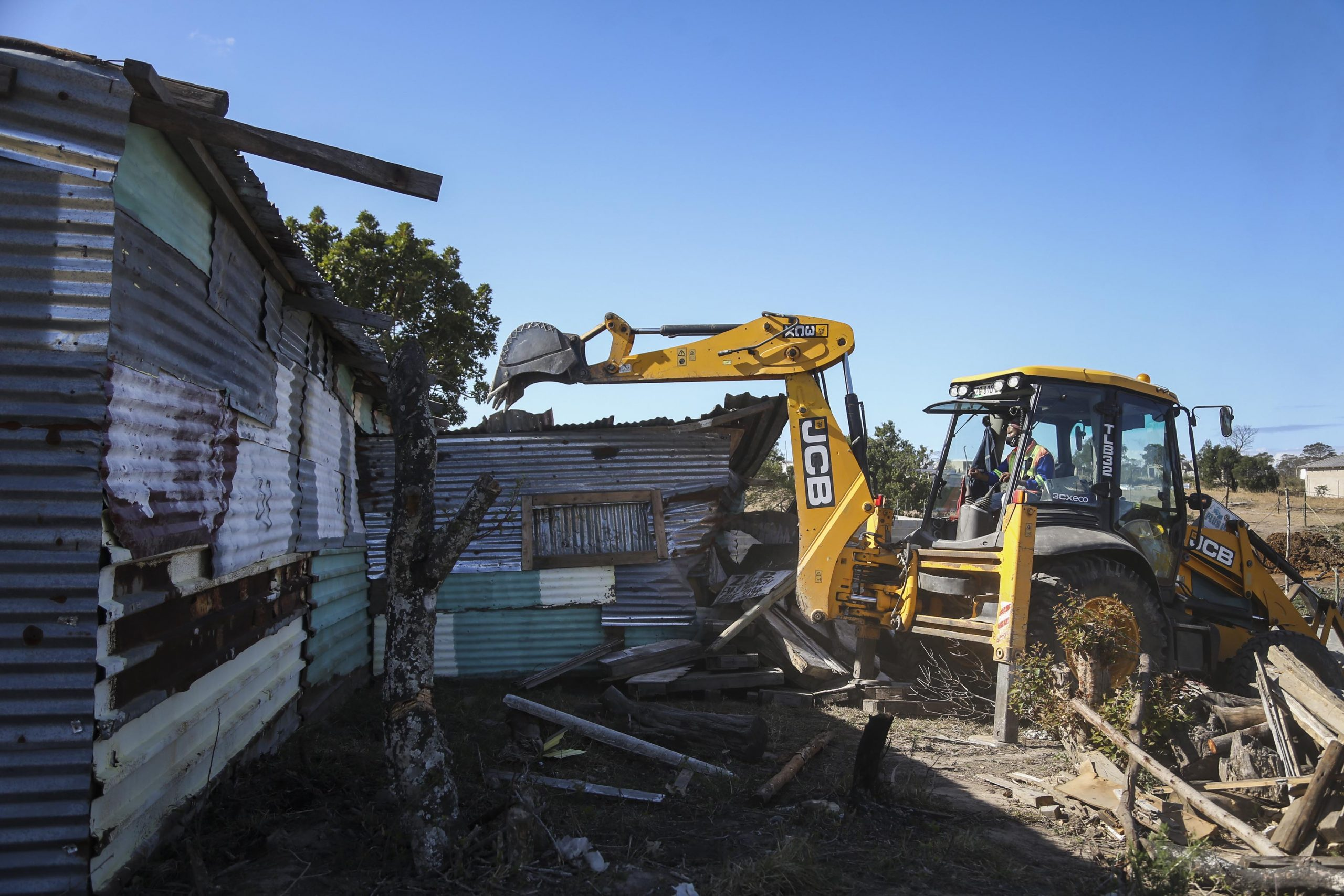27 July 2020: The Zion Christian Church structure being demolished. Nearly 200 residents were left homeless by the eviction.