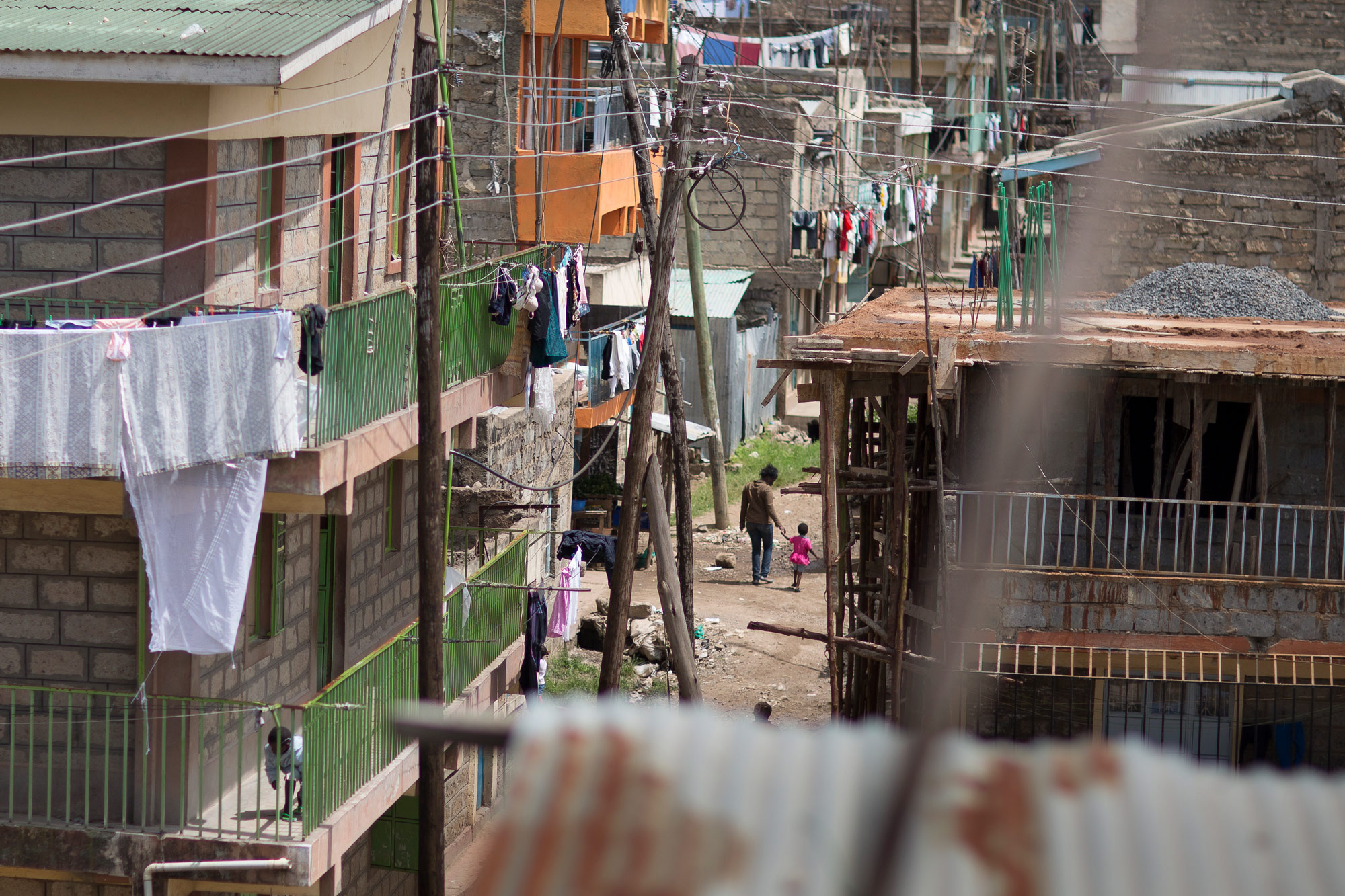 10 May 2013: A densely populated slum in Kayole, a suburb in Nairobi. (Photograph by Amy Toensing/ Corbis via Getty Images)