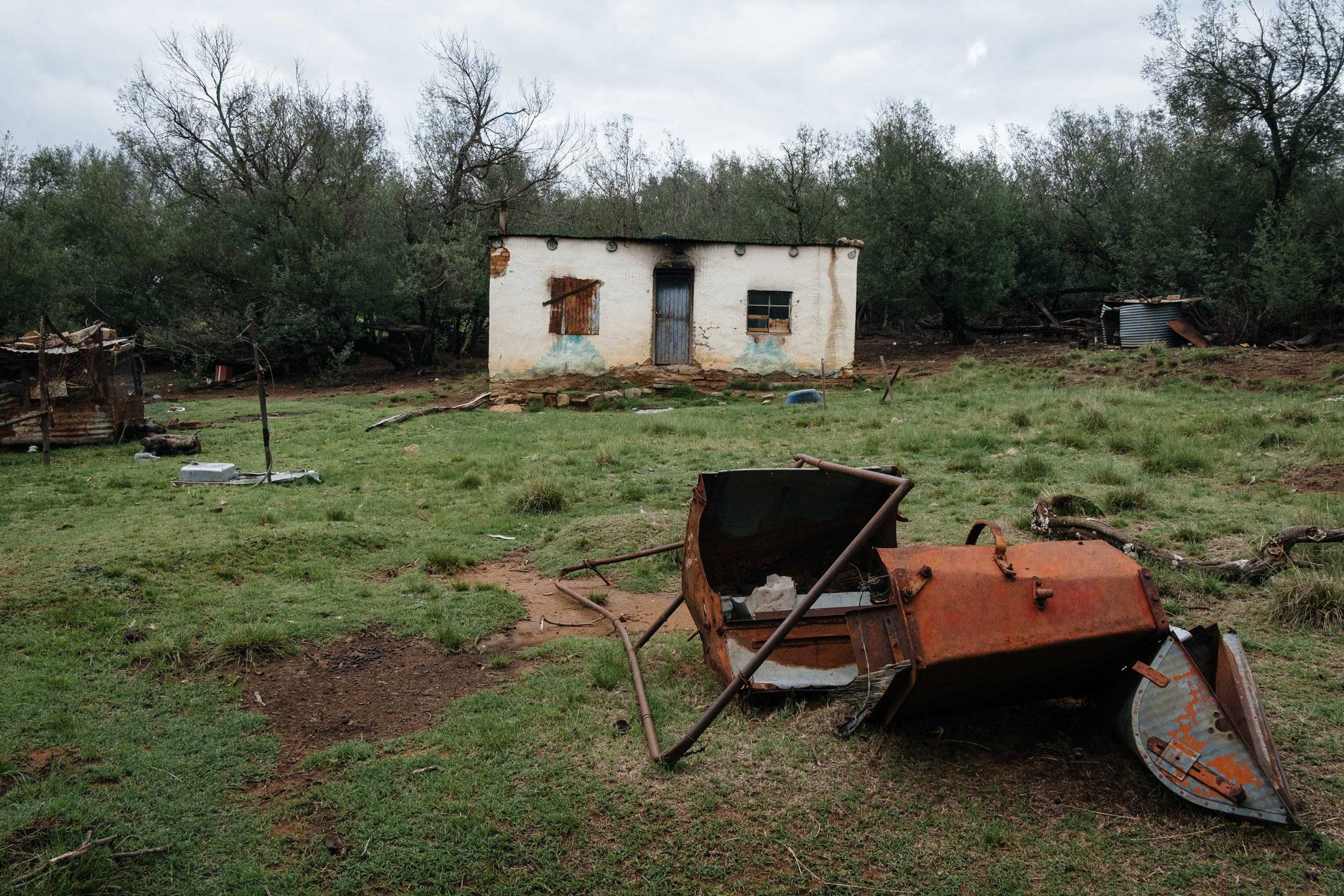 11 December 2019: The homestead from which Nolinette Nqoko was evicted on Orla Farm near Elliot, Chris Hani District, Eastern Cape after the farm was handed over to an emerging black farmer.