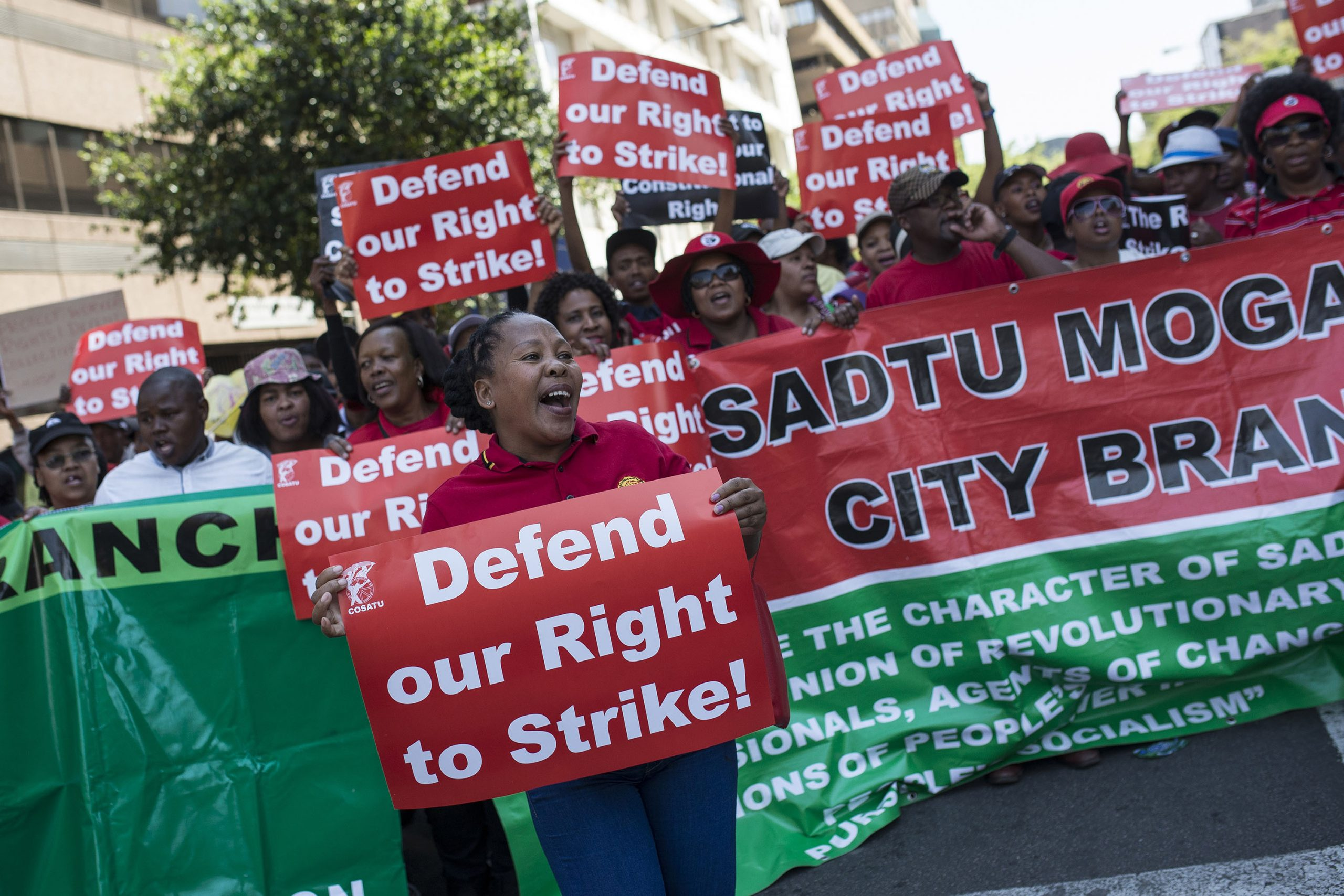 7 October 2016: Workers affiliated to the Congress of South African Trade Unions embark on a national strike demanding better working conditions. Nedlac has been reprioritising the 2018 jobs pact to boost certain areas in response to Covid-19.