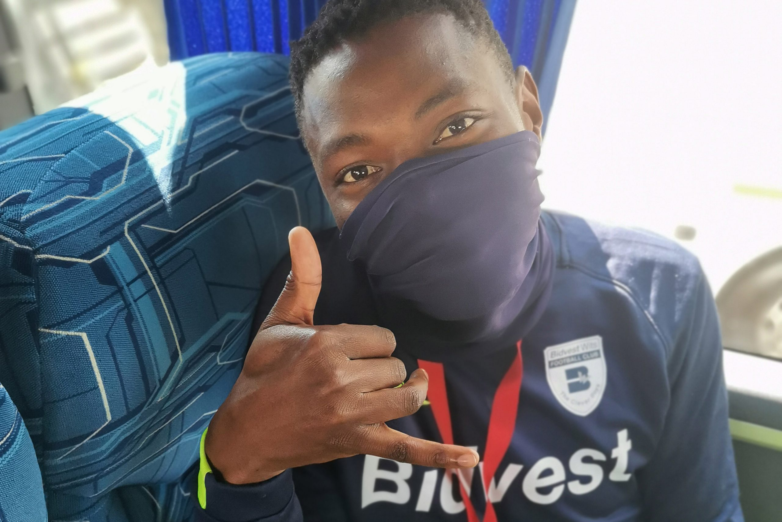 26 August 2020: Wits' Zitha Macheke enjoys the club's bus rides to the stadium for training and matches as it's one of a few opportunities that allow the players to bond.
