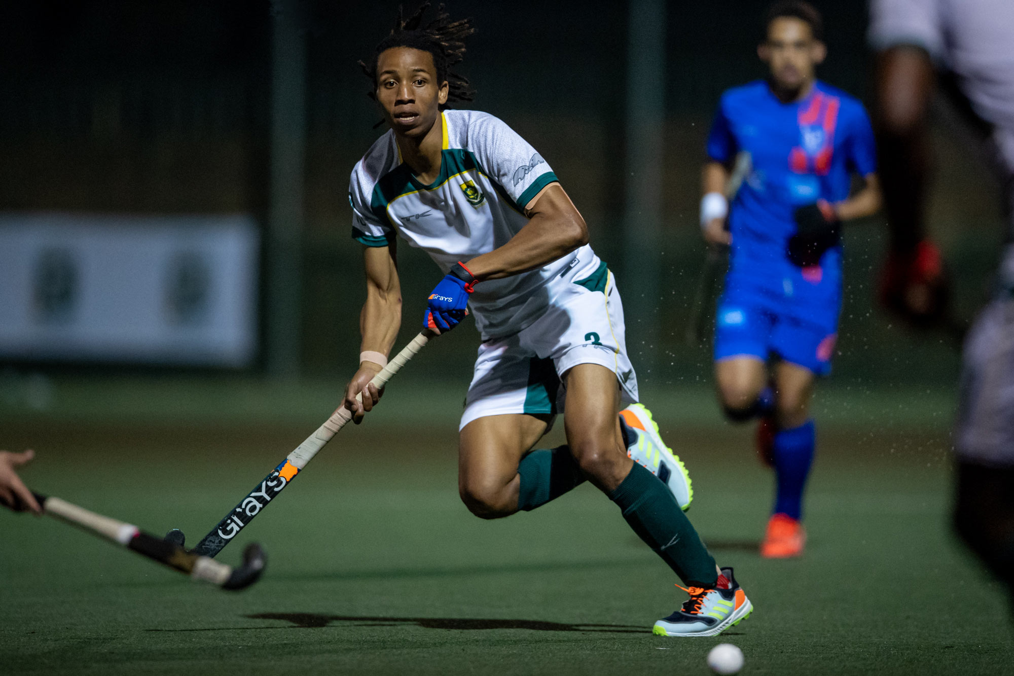 4 May 2021: Tyson Dlungwana from South Africa during the third of a five-match series against Namibia at Northcliff High School in Johannesburg. (Photograph by Anton Geyser/ Gallo Images)